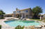 Prefect Yard for Entertaining! Grass area with Shade Tree, Pool with water feature, Covered Patio, Spa, Fireplace, BBQ