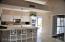Kitchen with window to atrium