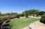 Backyard grass area