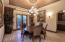 Dining room off wine room