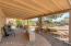 Covered back patio.