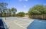 Private setting around sport court.