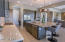 Chef's kitchen with Monogram appliances.