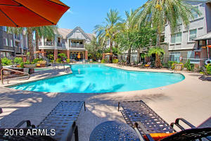 This 1 Bedroom 1 Bath Condo at City on Camelback offers 780 Sf with a  large kitchen and great room design, beautiful cabinets and large island. This unit has a large bedroom and bath with a great walk-in closet  and a private patio.
