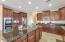 Gourmet Kitchen with gas cooktop and double ovens