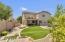 Spacious yard with fire pit, BBQ grill, covered patio, sparkling pool