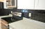 All Granite counter tops and accent tile backsplash