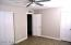 Two spacious closets in the Master Bedroom