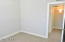 Bright 2nd bedroom, natural light and large closet