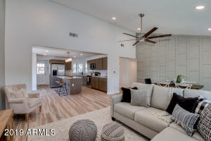 Great room with family & dining open to the kitchen