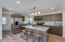 Gourmet kitchen w/leather finish granite counters