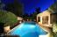 Beautiful evenings lit up in backyard!