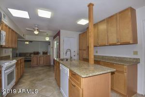 Completely remodeled and expanded kitchen with upgraded appliances.