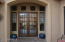 Entry french doors.