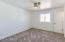 Spacious master bedroom includes new carpet, pad, windows and ceiling fan.