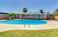 Enjoy a refreshing swim on a warm summer day in this oversized diving pool!