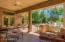 Backyard patio can be accessed from the Kitchen/Family Room and the Master Bedroom.
