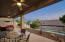 Get ready for the outdoor fun with this huge patio overlooking the pool.
