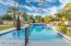 Heated diving pool