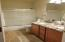 2nd Floor Guest Bath with Chiseled Stone and Granite Counter tops