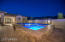 Huge Outdoor Space Features Raised Pool and Spa with Stone Exterior