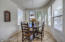 casual dining off the kitchen with bay window
