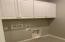 Laundry Cabinets, includes Gas Stub, and Laundry Tub