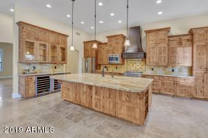 Beautiful custom kitchen with hickory cabinets