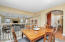 Eat-in Kitchen overlooks the large family room