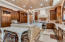 Gorgeous cabinetry and brick vaulted ceiling