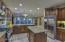 Crown molding on cabinets, plus under cabinet lighting