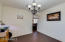 Formal dinning located right off the kitchen for convenience
