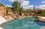 Pool, spa, waterfall view