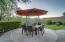 Dedicated outdoor dining area.