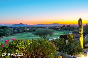 Sunset, City Lights & Camelback Mountain views from the backyard