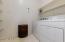 Inside Laundry Room w/ Washer & Dryer