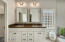 Master Bath w/ New White Cabinets & Quartz Counters