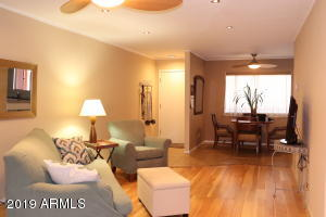 Warm, welcoming colors, Plenty of living room space for office/den area or additional sleeping space.