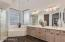 Large master bath with plenty of counter space.