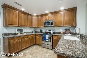 Very roomy U-Shaped kitchen with new backsplash