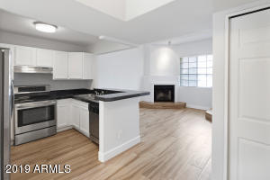 Kitchen opens to the family room