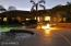 Enjoy the hot tub at night with the ambience of the gas fire pit nearby.