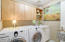 Large Laundry Room with Front Load Washer & Dryer