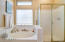 Relaxing soaking tub and separate shower