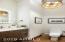 Stunning Chandelier, Back Lit LED Mirror & Floating Vanity