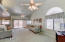 Wonderful Details Include Arched Windows and Vaulted Ceilings