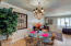 Notice the crown molding and wonderful light fixture in Dining Room!
