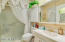 Master Bedroom with walk-in shower!
