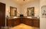 Vessel sinks with framed mirrors.