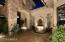 Listen to the fountain while enjoying the courtyard